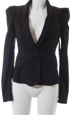 Sexy Woman Long-Blazer schwarz Business-Look