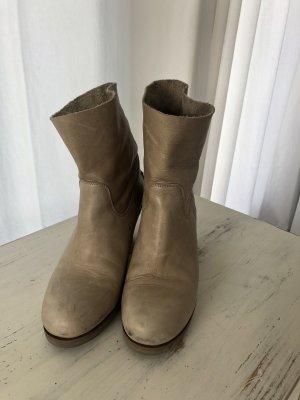Shabbies amsterdam Chelsea Boot beige cuir