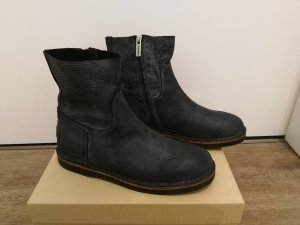 Shabbies amsterdam Chelsea Boots black-silver-colored leather