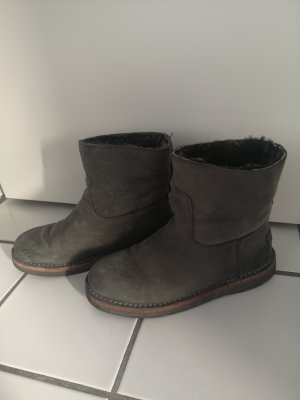 Shabbies amsterdam Winter Booties dark grey