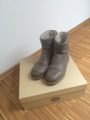 Shabbies Amsterdam - graue Leder Boots
