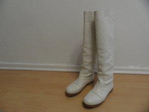 Shabbies Amsterdam Stiefel , Gr.: 40, Leder, Weiß, OVP