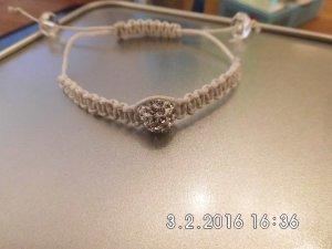 Shamballa Armband in Weiß