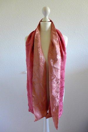 Shanghai Tang Asia China Designer Tuch Stola Schal Seide rosa pink rose wie neu