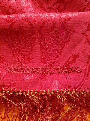 Shanghai Tang Bufanda de seda naranja dorado-rojo