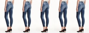 Shape Jeans h&m Shaping Skinny Regular High Waist Ankle 27 used 36 S 34 XS
