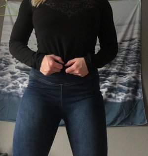Calzedonia Hoge taille jeans donkerblauw