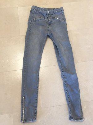 Shaping Jeans H&M grau Größe 28/30 grau