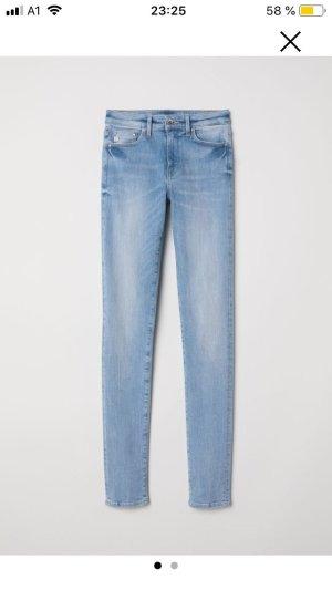 H&M Pantalon cigarette bleu clair