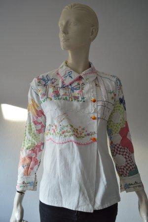 Veste chemisier blanc coton