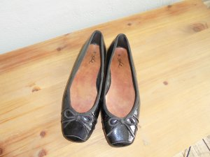 She Patent Leather Ballerinas black leather