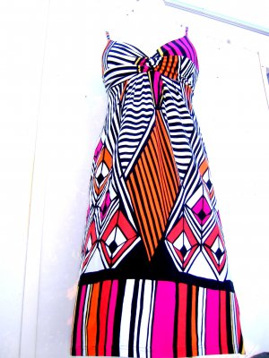 She Cocktailkleid °Coloured Diamond Stripes black/white°