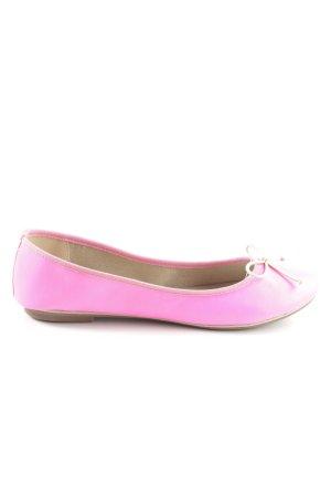 She faltbare Ballerinas pink-wollweiß Business-Look