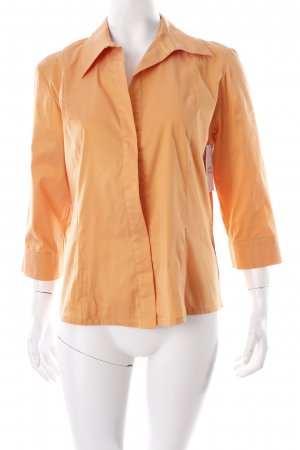 She Glanzende blouse licht Oranje elegant