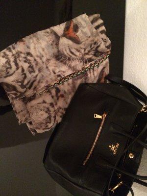 SHE - Hübscher Loop-Schal mit Tigerprint und schönen Details
