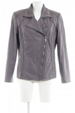 She Faux Leather Jacket grey lilac biker look