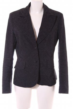 She Kurz-Blazer dunkelblau Ornamentenmuster Business-Look