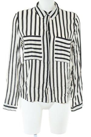She Langarm-Bluse schwarz-weiß Streifenmuster Business-Look