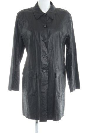 She Leren jas zwart casual uitstraling