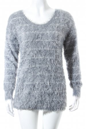 She Pullover silberfarben-grau Kuschel-Optik