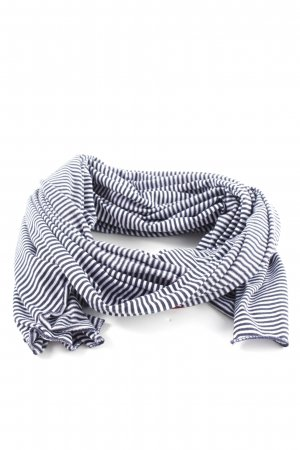 She Summer Scarf white-black striped pattern casual look