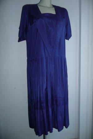 She Unikat Eyecatcher Vintage Sommer Kleid Lapislazuli-Blau Gr L 40
