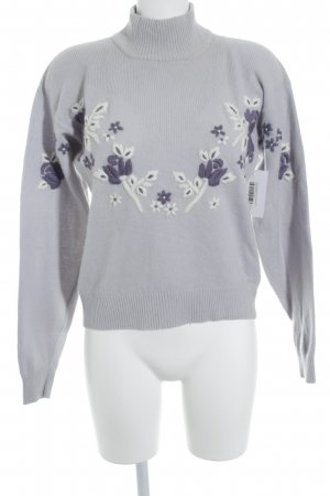 She Wollpullover florales Muster Street-Fashion-Look