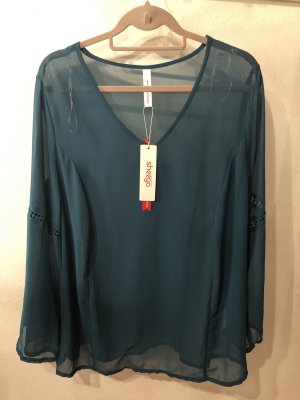 Sheego Transparante blouse cadet blauw