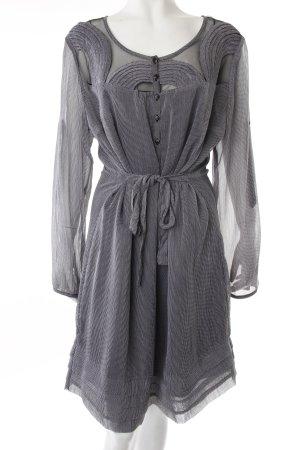 Sheego Blusenkleid schwarz-grau gemustert