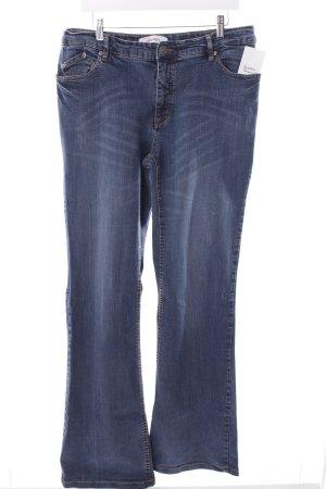 Sheego Boot Cut Jeans blau Street-Fashion-Look