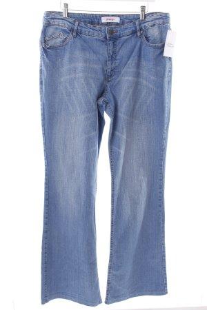 Sheego Boot Cut Jeans kornblumenblau Casual-Look