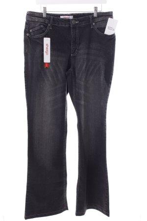 Sheego Boot Cut Jeans schwarz Street-Fashion-Look