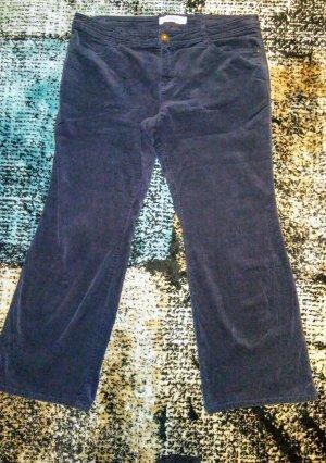 Sheego Pantalón de pana azul oscuro-azul