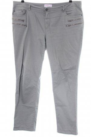 Sheego Five-Pocket-Hose hellgrau Casual-Look