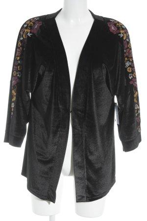 Sheego Kimono flower pattern velvet appearance