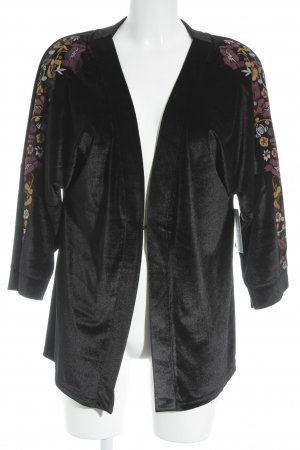 Sheego Kimono Blumenmuster Samt-Optik