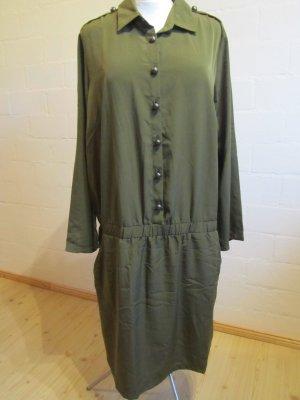 SHEEGO: Kleid olivgrün, Gr. 46, NEU