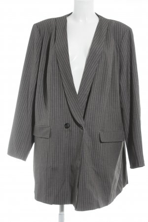 Sheego Long-Blazer grau-weiß Nadelstreifen Business-Look
