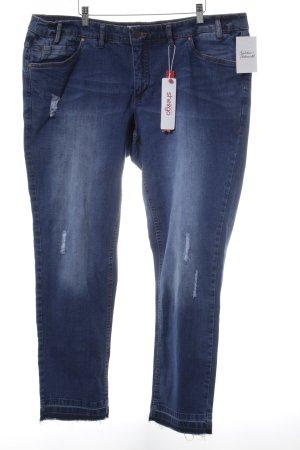 Sheego Slim Jeans blau Casual-Look
