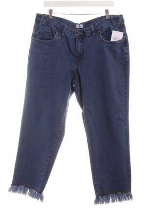 Sheego Slim Jeans dunkelblau Webmuster Casual-Look