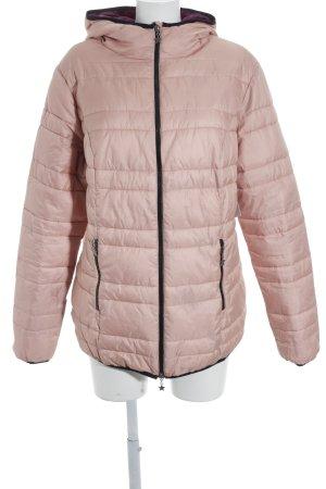 Sheego Veste matelassée rose chair motif de courtepointe style décontracté
