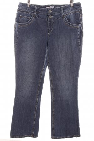 Sheego Straight-Leg Jeans dunkelblau Casual-Look