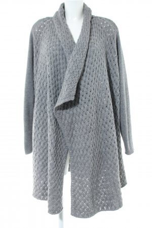 Sheego Knitted Coat light grey business style