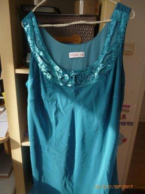 SHEEGO StyleKleid 2-Laggig mit Pailetten gr 48 wie neu,nur 1 x angehabt