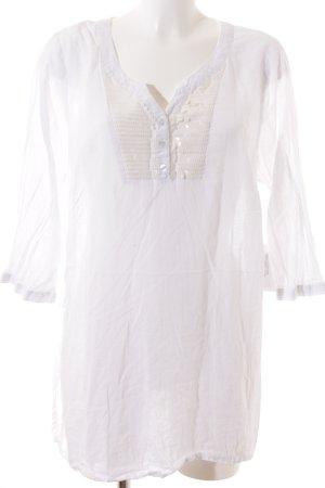 Sheego Transparenz-Bluse wollweiß-weiß schlichter Stil
