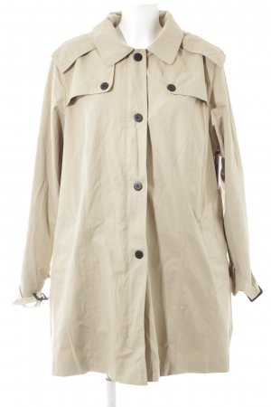 Sheego Trenchcoat hellbeige Webmuster Casual-Look