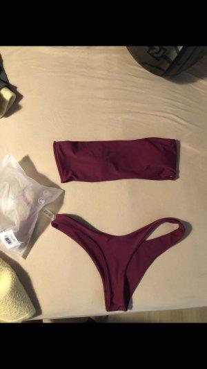 Sheinside Bikini bordeaux-paars