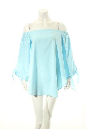 SheIn Carmen-Bluse hellblau schlichter Stil