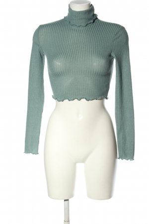 SheIn Cropped Shirt türkis Casual-Look