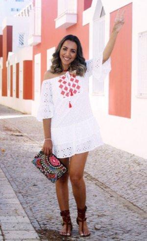 Shein Hippie Blogger Stick Bandeau Mini Kleid XS 32 34
